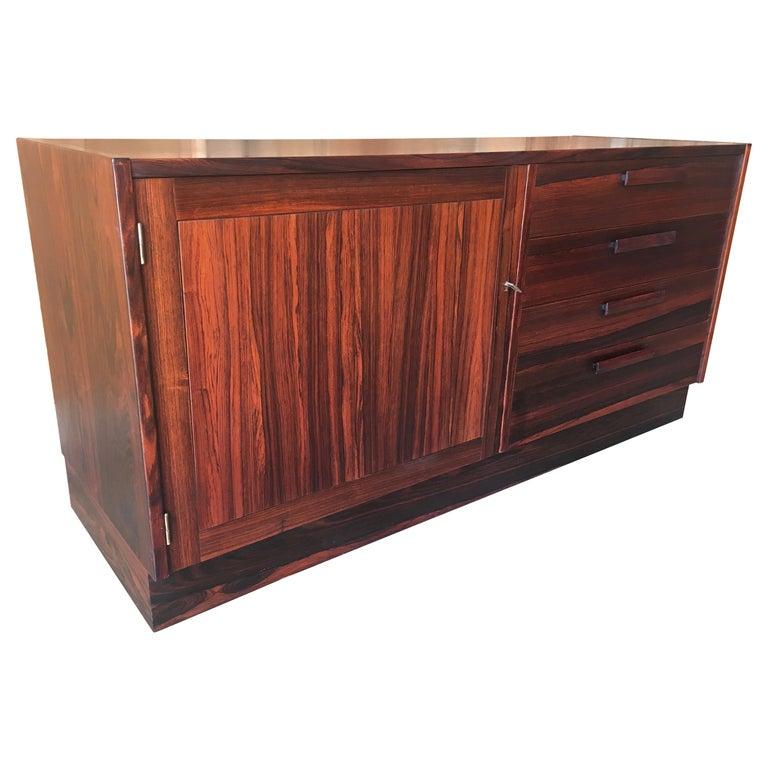 Scandinavian Modern Rosewood Credenza For Sale