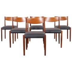 Danish Modern Teak Dining Chairs By Poul Volther