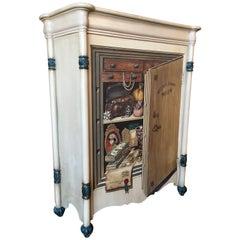 "Palladio ""Trompe L'oeil"" Hand Painted Wood Cabinet"