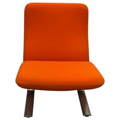 Artifort Classic Orange Low Back Concorde Chair by Pierre Paulin