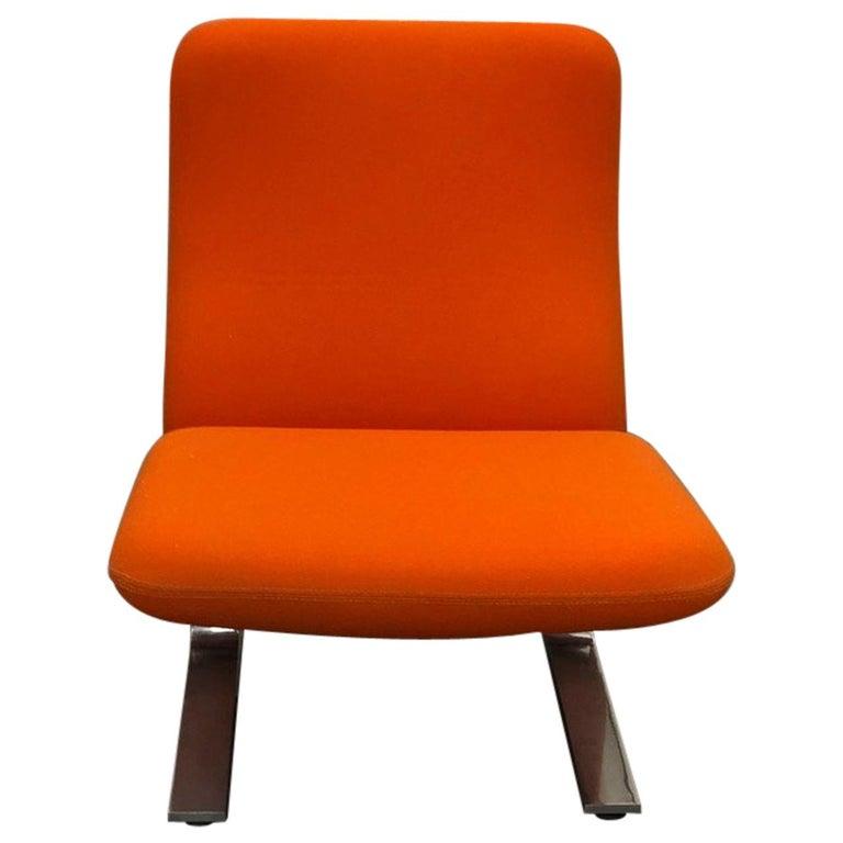Artifort Classic Orange Low Back Concorde Chair by Pierre Paulin For Sale