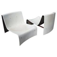 Midcentury Italian Fiberglass Chairs for Poolside or Patio