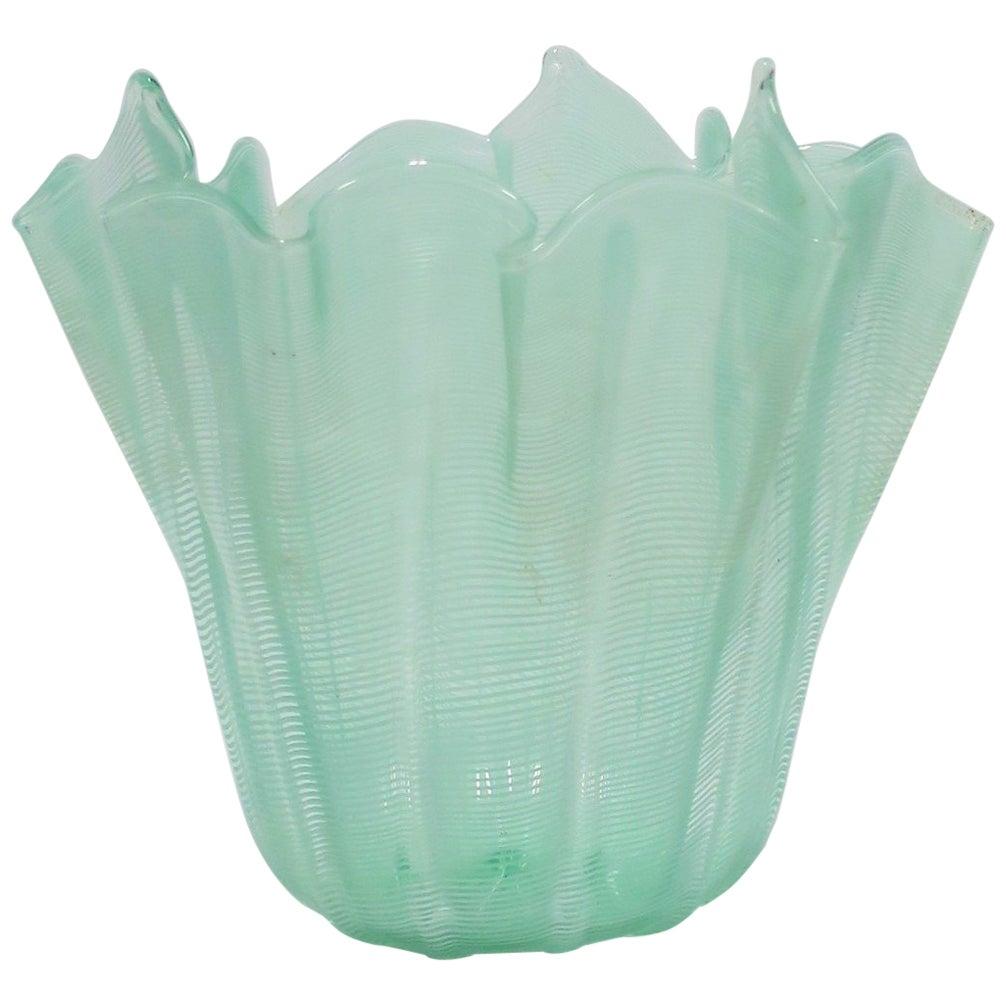 Italian Murano Art Glass Handkerchief Vase