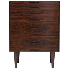 Brazilian Rosewood Nightstand Cabinets, a Pair