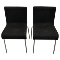Set of Six Gubi II Stackable Felt Chairs
