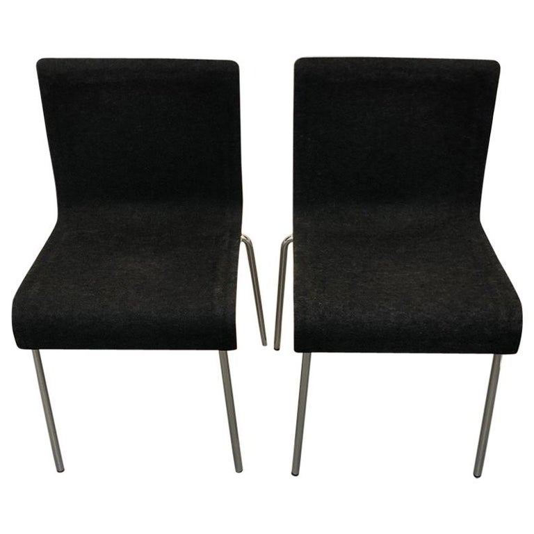 Set of Six Gubi II Stackable Felt Chairs For Sale