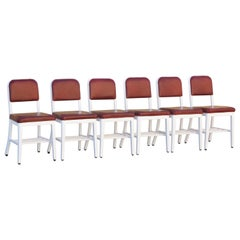 """Set of 6 """"Goodform"""" Side Chairs by General Fireproofing Co., Refinished"""