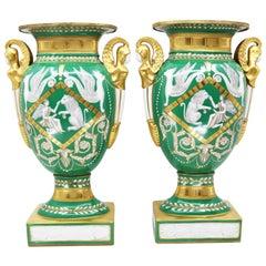Pair of Vases, Empire Style 19th Century Paris