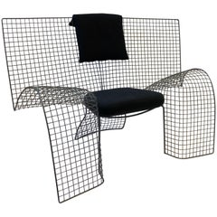 Steel Mesh Memphis Chair by D'Urbino Lomazzi for Zerodesigno