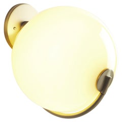 Fiddlehead Sconce in Cream and Brass by Jason Miller for Roll & Hill