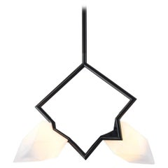 Seed Double Pendant in Black and White by Bec Brittain for Roll & Hill
