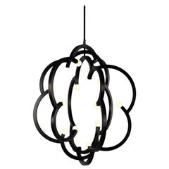 Blow Pendant in Black by Lindsey Adelman for Roll & Hill