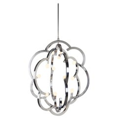 Blow Pendant in Polished Nickel by Lindsey Adelman for Roll & Hill