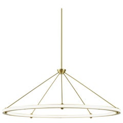 Halo Circle Pendant Light in Brass by Paul Loebach for Roll & Hill