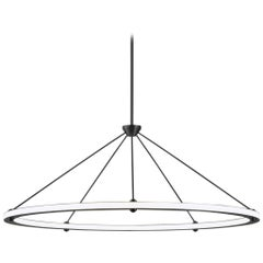 Halo Circle Pendant Light in Black by Paul Loebach for Roll & Hill