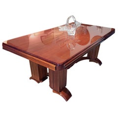 Art Deco Dining Table by Dominique Andre Domin and Marcel Genevriere