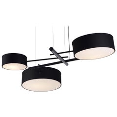 Excel Chandelier in Black by Rich Brilliant Willing for Roll & Hill