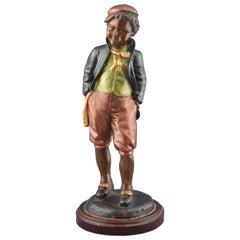 Boy, Polychromed Bronze Figure