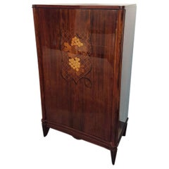 Palisander Cocktail Center Cabinet Attributed to De Coene Freres