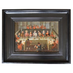 Dutch Flemish School Old Master Oil Painting Wedding Feast at Cana, 17th Century