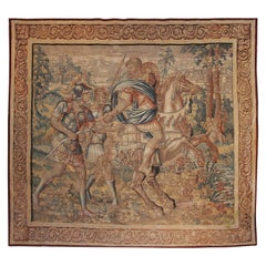 Large 17th Century Flanders Tapestry Depicting a Roman Scene