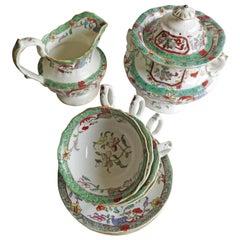 William IVth Mason's Tea Set 10 Pieces Porcelain Pattern 223, English circa 1830