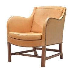 Kaare Klint and Edvard Kindt-Larsen 'Mix' Lounge Chair in Niger Leather