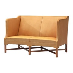 Kaare Klint 4118 Settee in Mahogany and Leather