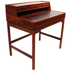 Writing Desk in Rosewood by the Norwegian Designer Torbjørn Afdal from the 1960s