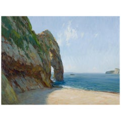 One Oil Painting on Canvas by Marc Dalessio of the Arch in the Cliffs