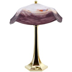 Degue Delicious French Art Deco Table Lamp, 1920s