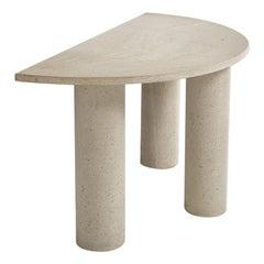 Handmade Italian Half Moon Console Table in Granite