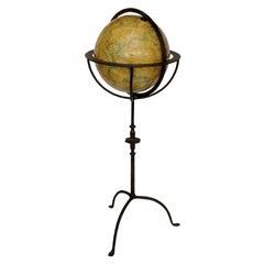 Spanish 16th Century Style Globe on Stand, circa 1950