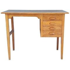Mastruzzi Mid-Century Modern Wood Italian Writing Table, 1950s