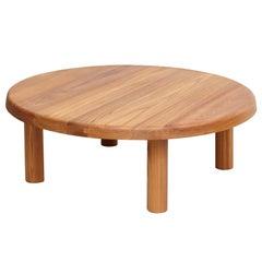 Pierre Chapo T02M Elmwood Round Coffee Table