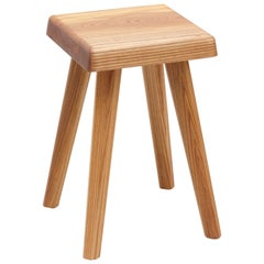 Pierre Chapo Solid Elmwood French Stool