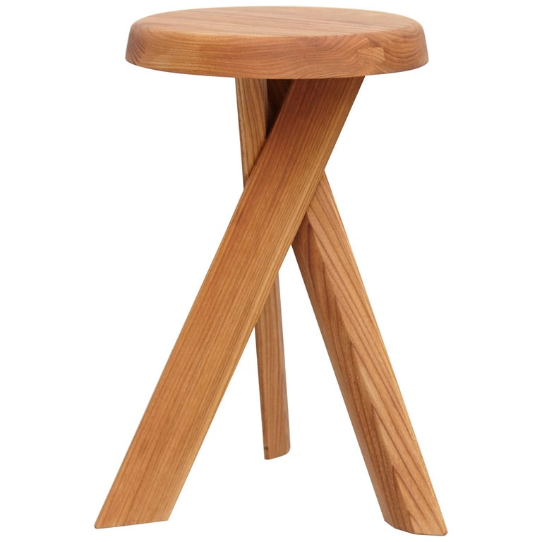 Pierre Chapo Stool S31B Elm Wood For Sale