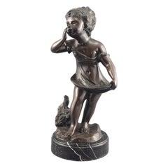 Worried Child, Bronze, Marble