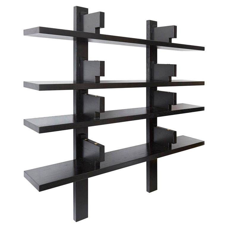 Pierre Chapo Special Black Edition Wall-Mounted Book Shelve B17