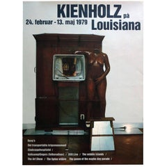 1970s Edward Kienholz Exhibition Poster Pop Art Sculpture