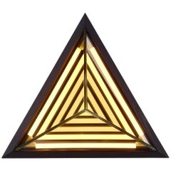 Stella Triangle Sconce in Black by Rosie Li for Roll & Hill
