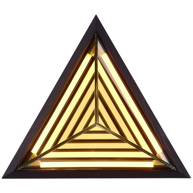 Stella Triangle Sconce in Black by Rosie Li for Roll & Hill For Sale