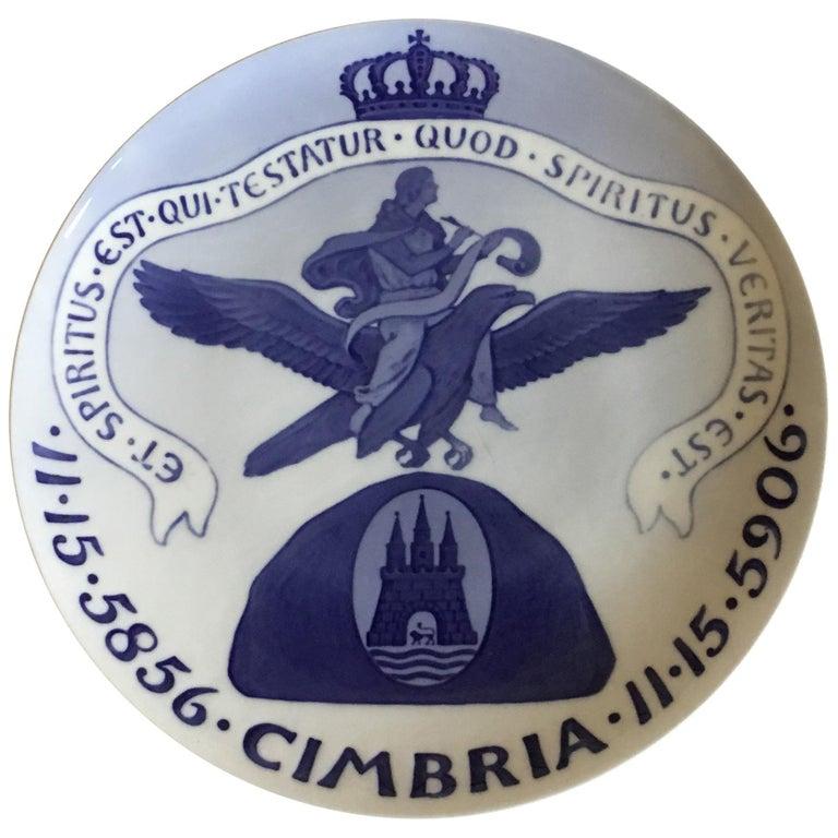 Royal Copenhagen Commemorative Plate from 1906 RC-CM63 For Sale