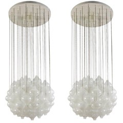 Pair of Kalmar 'Tulipan' Chandeliers Pendant Lights, 1970s