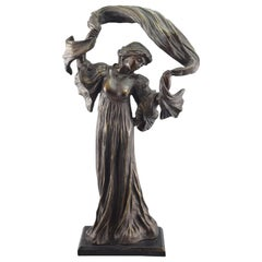 Lady with Shawl, Bronze, after Models from Agathon Léonard 'Dit', '1841-1923'
