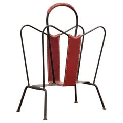 Jacques Adnet Magazine Rack, 1950s
