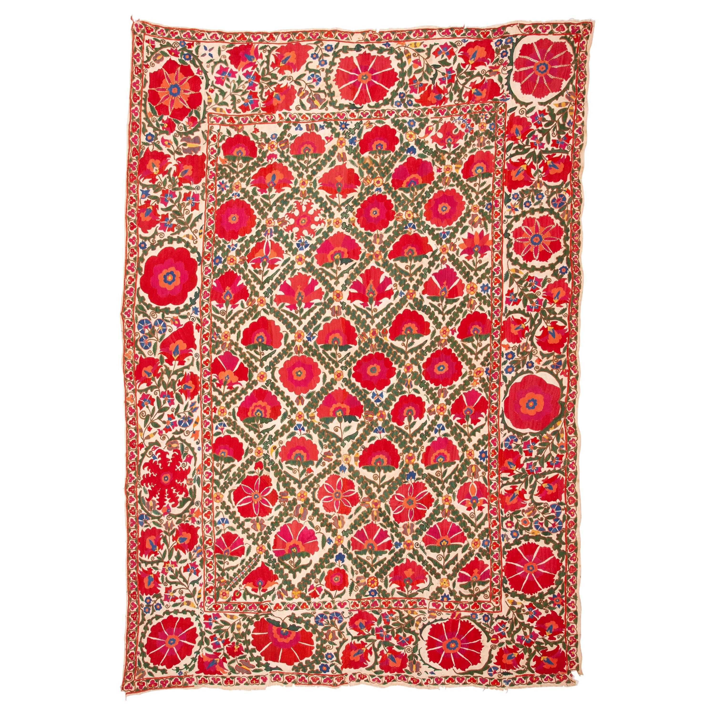 Antique Uzbek Suzani from Bukhara Uzbekistan, 19th Century