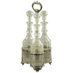 Silver Plated Three Bottle Decanter Stand