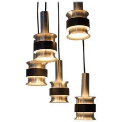 Scandinavian Aluminum Cascade 1960s Lamp