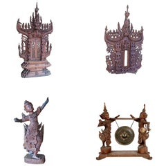 Set of Late 19th Century Indonesian Wood Carvings
